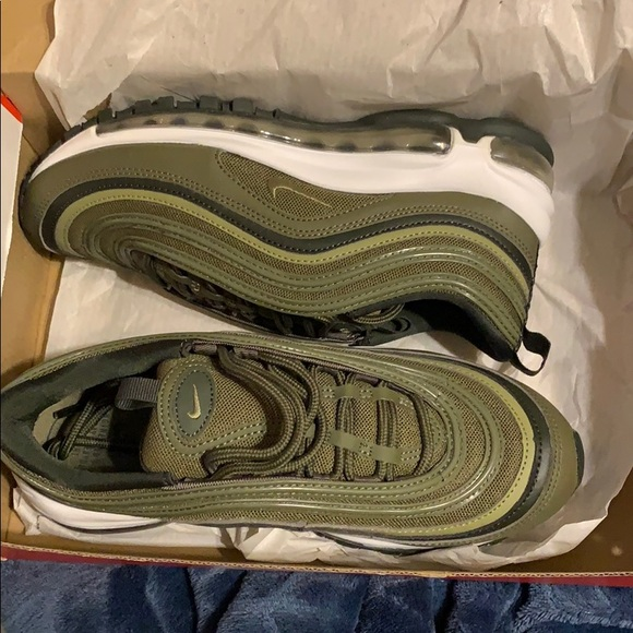 new product c419d 5f14a Olive green Nike Air Max 97